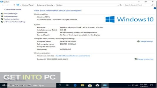 Windows 10 x64 Pro Updated July 2019 Free Download