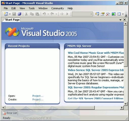 Visual Studio 2005 Offline installer Download Free