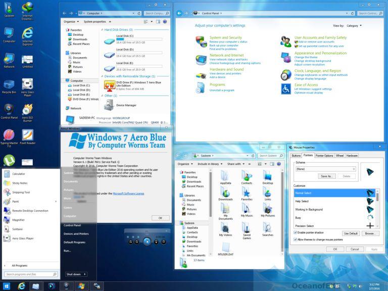 Windows 7 Aero Blue Edition Latest Version Download