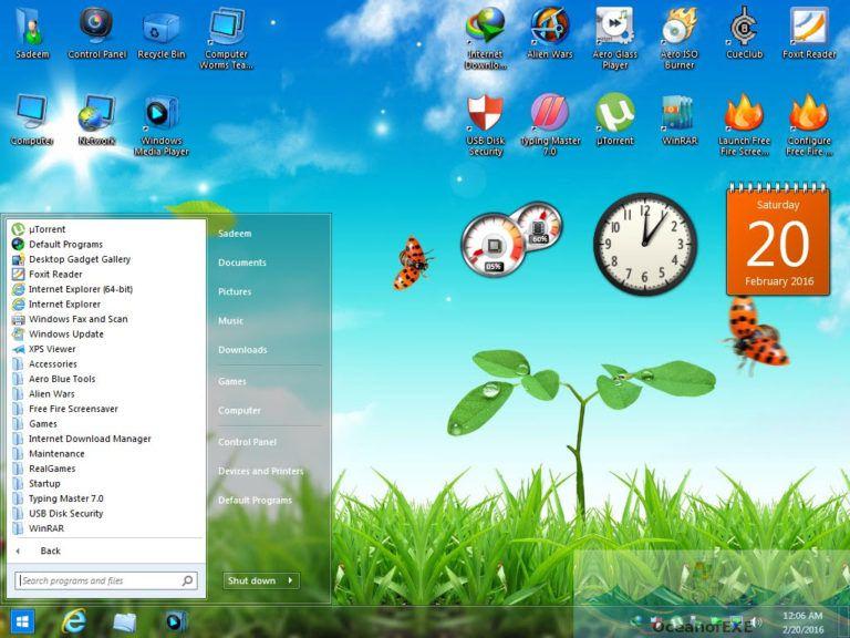 Windows 7 Aero Blue Edition Offline Installer Download