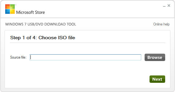 Choose ISO File