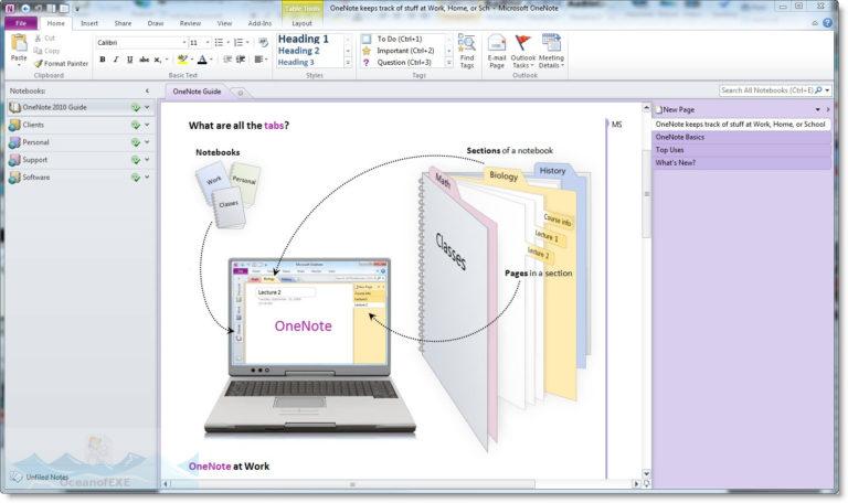 Microsoft Office OneNote 2010 Latest Version Download